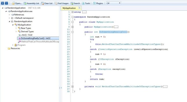 JustDecompile Showing Updated Code.