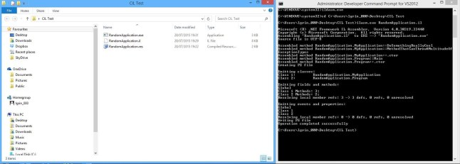 Example of Running ilasm.exe.