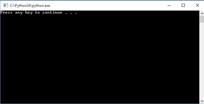 Python Command Line.