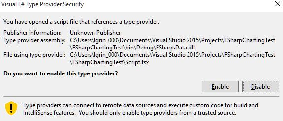 Type Provider Enable Dialog.
