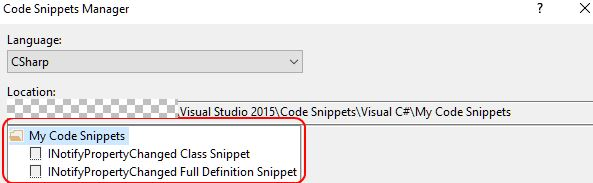Shows custom snippets in the Code Snippets Manager after import.