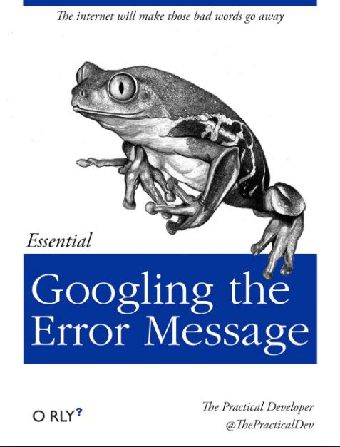 Googling the Error Message.