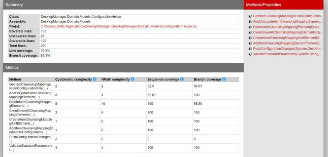 Configuration Helper Report Details.