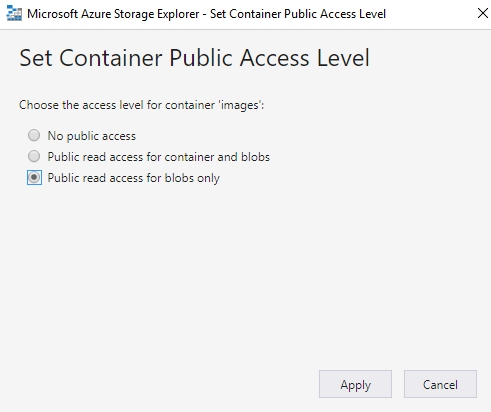 Container Public Access Setup.