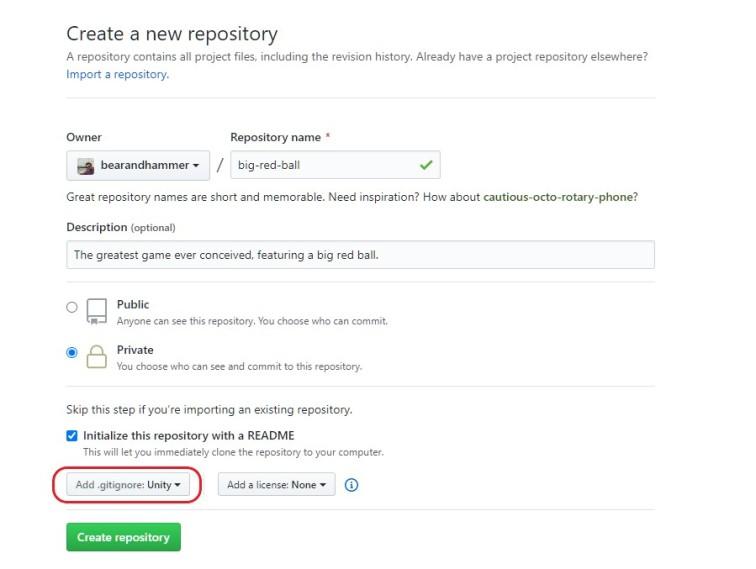 Unity Repository Setup